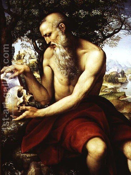 St. Jerome, c.1507-12 by Cesare da Sesto - Reproduction Oil Painting