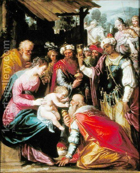 The Adoration of the Magi by Giuseppe (d'Arpino) Cesari (Cavaliere) - Reproduction Oil Painting