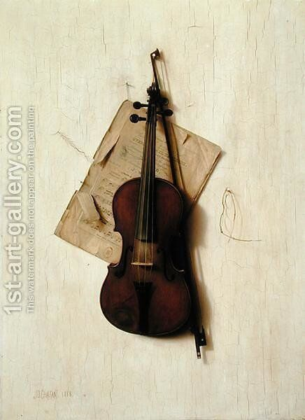 The Old Violin, 1888 by Jefferson David Chalfant - Reproduction Oil Painting