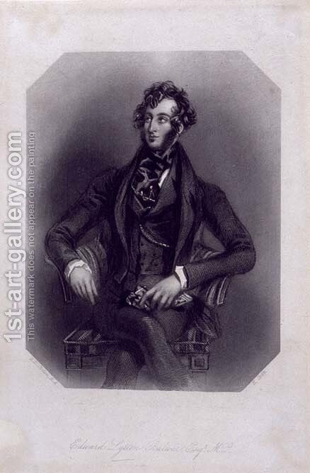 Edward Lytton Bulwer (1803-73) by Alfred-Edward Chalon - Reproduction Oil Painting