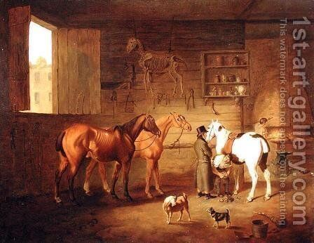 The Blacksmith's Shop, c.1810-20 by Henry Bernard Chalon - Reproduction Oil Painting