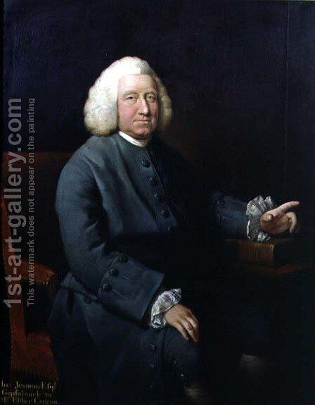 Portrait of Charles Jennens (1700-73), patron and friend of Handel by Mason Chamberlin - Reproduction Oil Painting