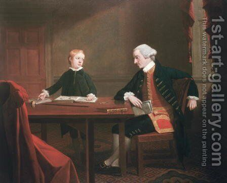 Samuel Smith and his Son William, c.1770 by Mason Chamberlin - Reproduction Oil Painting