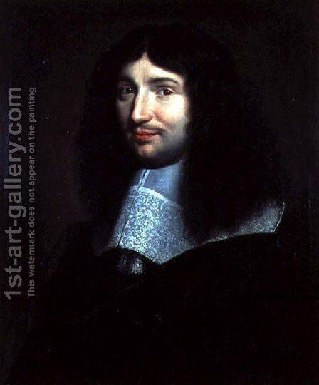 Portrait of a Man, Presumed to be Jean Baptiste Colbert (1619-1683) by Anonymous Artist - Reproduction Oil Painting