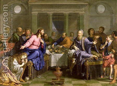 Christ in the House of Simon the Pharisee, c.1656 by Philippe de Champaigne - Reproduction Oil Painting