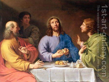 The Supper at Emmaus 2 by Philippe de Champaigne - Reproduction Oil Painting