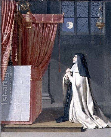 The Vision of St. Juliana (1191-1258) of Mont Cornillon by Philippe de Champaigne - Reproduction Oil Painting