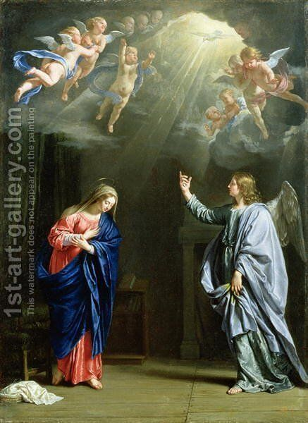 The Annunciation, 1644 by Philippe de Champaigne - Reproduction Oil Painting