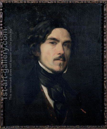 Eugene Delacroix (1798-1863) 1840 by Charles Emile Callande de Champmartin - Reproduction Oil Painting