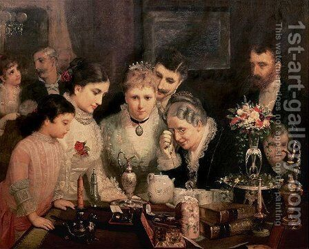 Wedding Presents, c.1880 by James Wells Champney - Reproduction Oil Painting