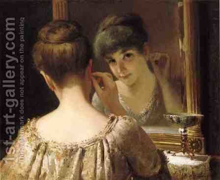 The Coquette, c.1885 by James Wells Champney - Reproduction Oil Painting