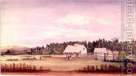 Mania Station, Wairarapa, New Zealand, 1856 by Alfred Chapman - Reproduction Oil Painting