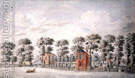 View of a Gazebo and Garden, 1774 by I. Chapman - Reproduction Oil Painting