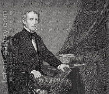Portrait of John Tyler (1790-1862) by Alonzo Chappel - Reproduction Oil Painting