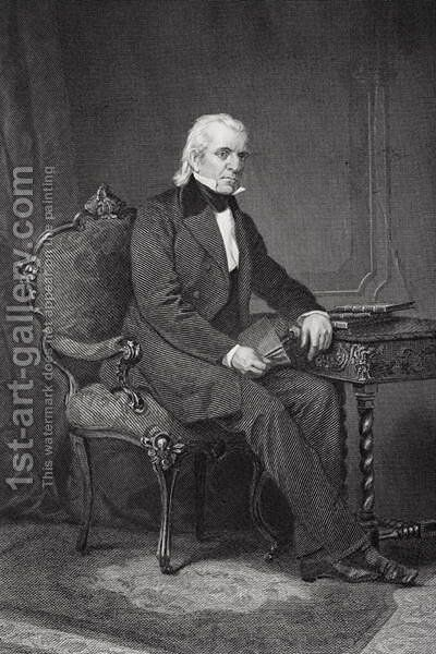 Portrait of James Knox Polk (1795-1849) by Alonzo Chappel - Reproduction Oil Painting