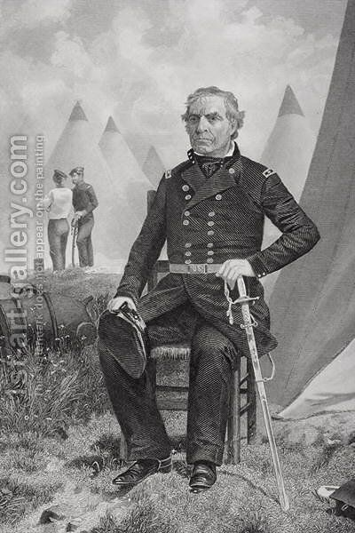 Portrait of Zachary Taylor by Alonzo Chappel - Reproduction Oil Painting