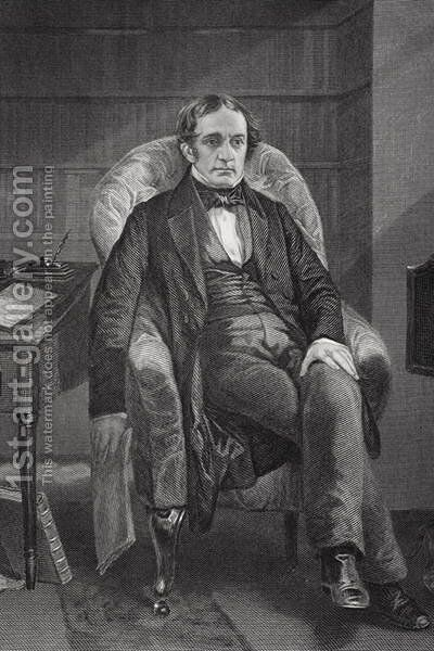 Portrait of William Hickling Prescott (1796-1859) by Alonzo Chappel - Reproduction Oil Painting