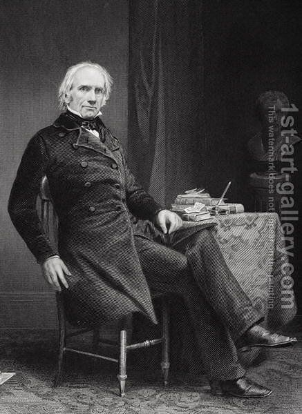 Portrait of Henry Clay (1777-1852) by Alonzo Chappel - Reproduction Oil Painting