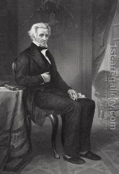 Andrew Jackson (1767-1845) 7th President of the United States by Alonzo Chappel - Reproduction Oil Painting