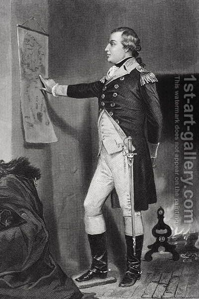 Portrait of Richard Montgomery (1736-75) by Alonzo Chappel - Reproduction Oil Painting