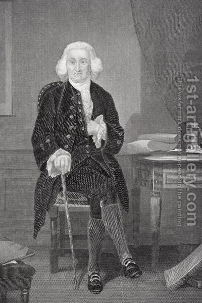 Portrait of Jonathan Trumbull (1710-85) by Alonzo Chappel - Reproduction Oil Painting