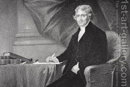 Portrait of Thomas Jefferson (1743-1826) (2) by Alonzo Chappel - Reproduction Oil Painting