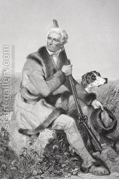 Portrait of Daniel Boone (1734-1820) by Alonzo Chappel - Reproduction Oil Painting