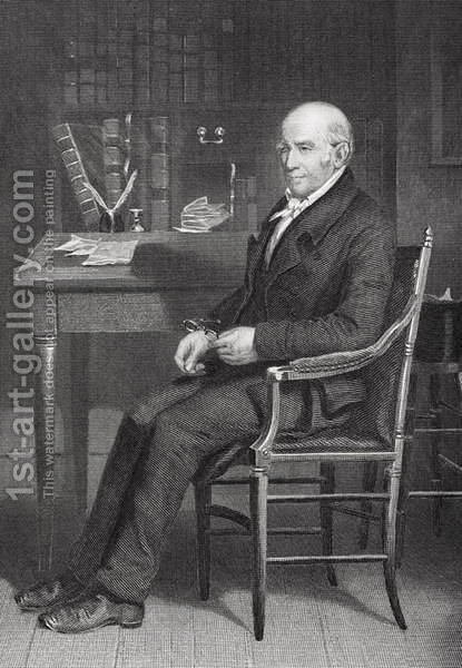 Portrait of Stephen Girard (1750-1831) by Alonzo Chappel - Reproduction Oil Painting