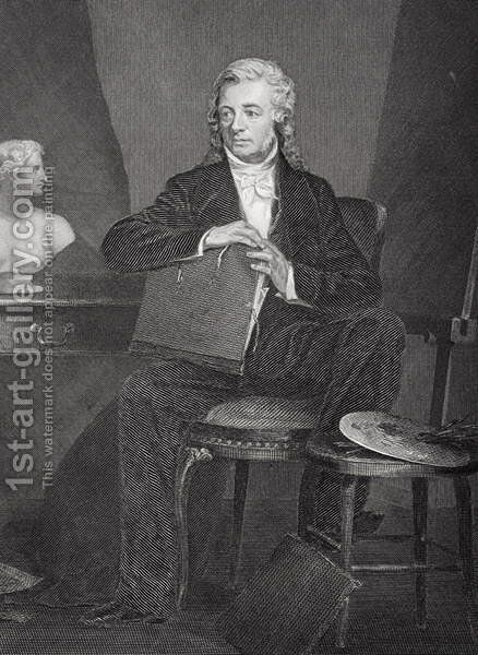 Portrait of Washington Allston (1779-1843) by Alonzo Chappel - Reproduction Oil Painting