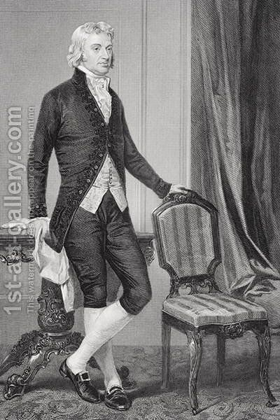 Portrait of Robert R. Livingston (1746-1813) by Alonzo Chappel - Reproduction Oil Painting