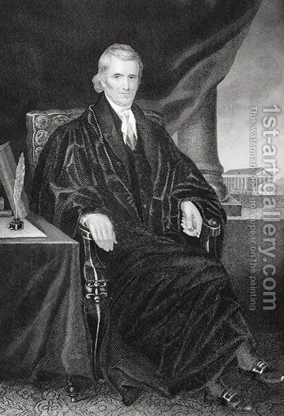 John Marshall (1755-1835) by Alonzo Chappel - Reproduction Oil Painting