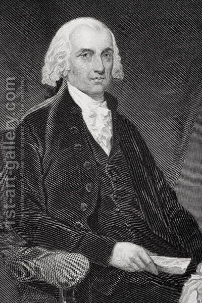 James Madison (1751-1836) (2) by Alonzo Chappel - Reproduction Oil Painting