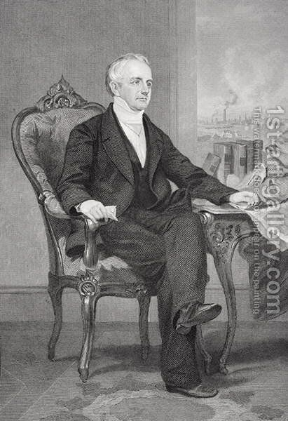 Abbott Lawrence (1792-1855) by Alonzo Chappel - Reproduction Oil Painting