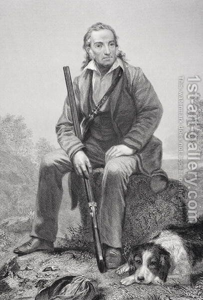 John James Audubon (1785-1851) by Alonzo Chappel - Reproduction Oil Painting