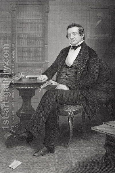 Washington Irving (1783-1859) by Alonzo Chappel - Reproduction Oil Painting