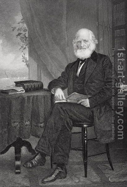 William Cullen Bryant (1794-1878) by Alonzo Chappel - Reproduction Oil Painting