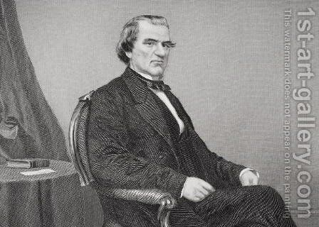 Andrew Johnson (1808-75) (detail) by Alonzo Chappel - Reproduction Oil Painting