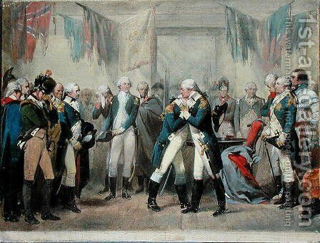 Washington's Farewell to his Officers by Alonzo Chappel - Reproduction Oil Painting