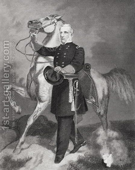 Portrait of General James Samuel Wadsworth (1807-64) by Alonzo Chappel - Reproduction Oil Painting