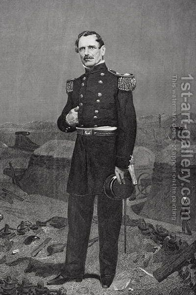 Portrait of General James Shield by Alonzo Chappel - Reproduction Oil Painting