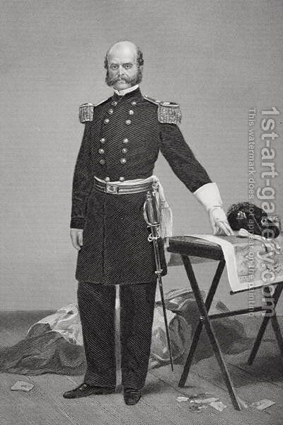Portrait of Major General Ambrose Everett Burnside (1824-81) by Alonzo Chappel - Reproduction Oil Painting