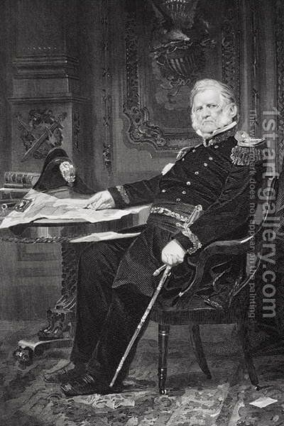 Portrait of Winfield Scott (1786-1866) by Alonzo Chappel - Reproduction Oil Painting