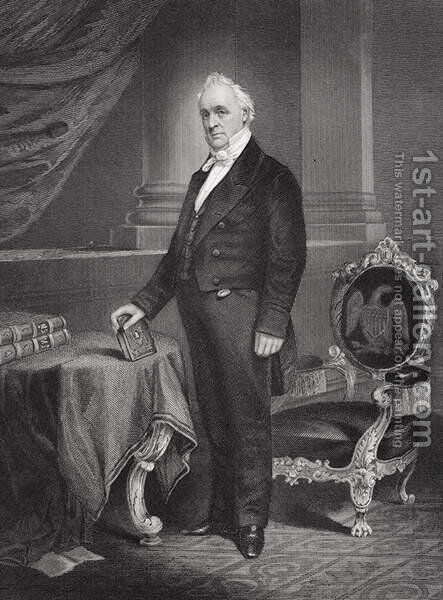Portrait of James Buchanan (1791-1868) by Alonzo Chappel - Reproduction Oil Painting