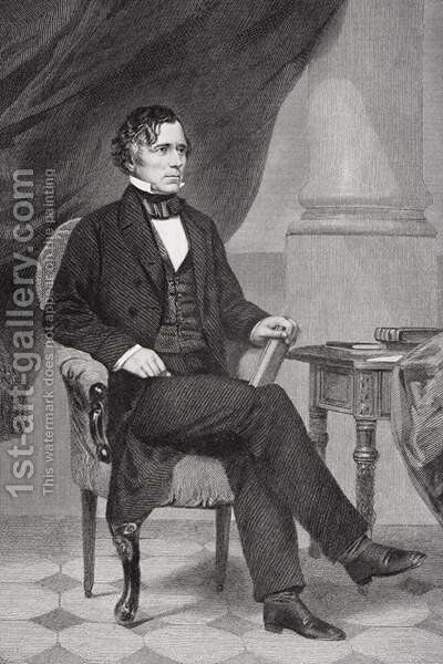 Portrait of Franklin Pierce (1804-69) by Alonzo Chappel - Reproduction Oil Painting