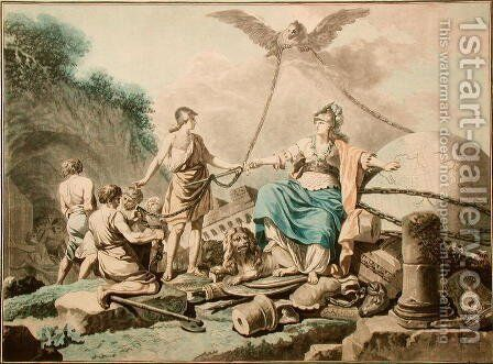 Allegory of the Liberation of Slaves by Henri Michel Antoine Chapu - Reproduction Oil Painting