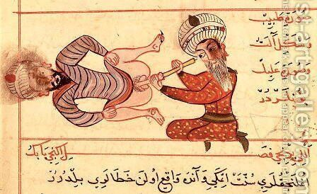 Ms Sup Turc 693 fol.96v Inspection of the Male Urethra, 1466 by Charaf-ed-Din - Reproduction Oil Painting