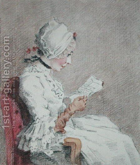 Portrait of Suzanne, a young peasant from Marly-le-Roi by Jean-Baptiste-Simeon Chardin - Reproduction Oil Painting