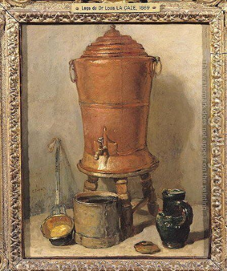 The Copper Drinking Fountain, c.1733-34 by Jean-Baptiste-Simeon Chardin - Reproduction Oil Painting