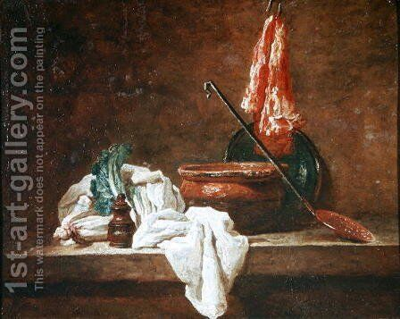 Still Life by Jean-Baptiste-Simeon Chardin - Reproduction Oil Painting