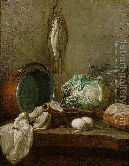 Still Life, c.1731-33 by Jean-Baptiste-Simeon Chardin - Reproduction Oil Painting